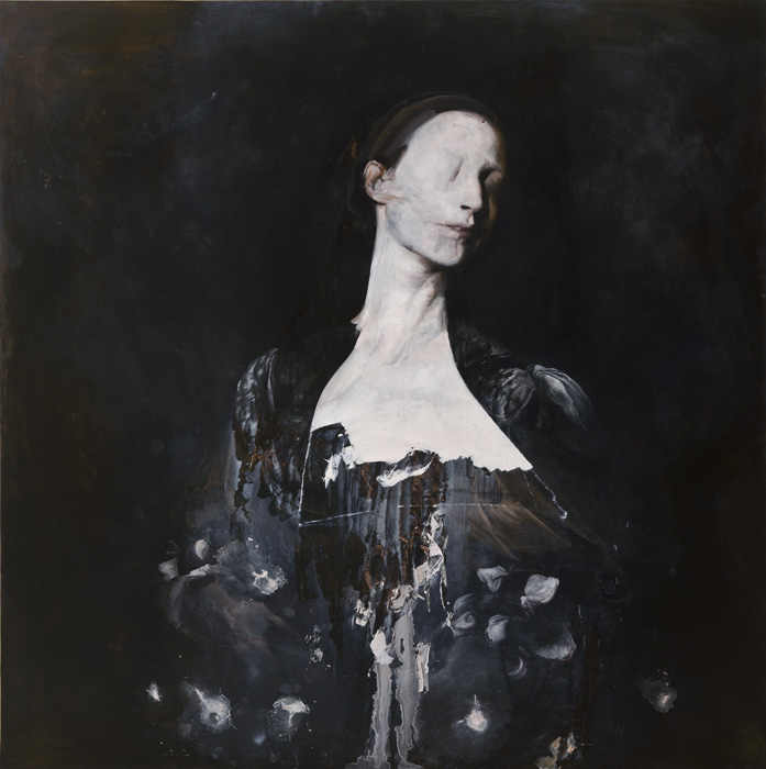 2010, oil on copper, 100 x 100 cm