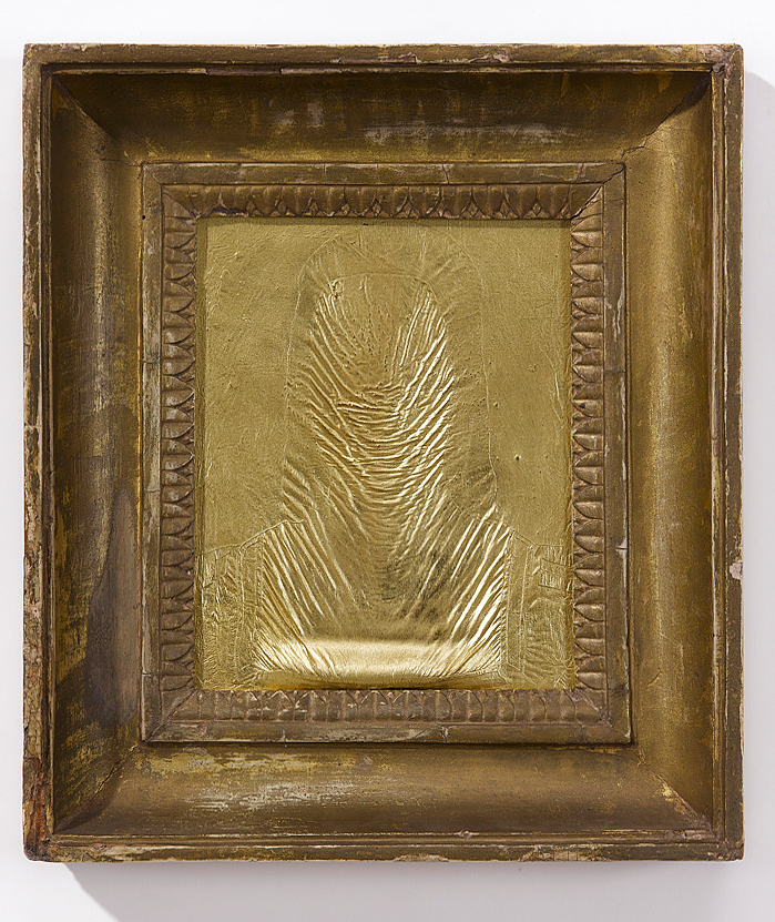 2012, Oil and gold leaf on wood, 30,5 x 27 cm