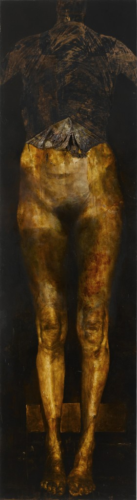 2006/2012, oil on copper, 180 x 50 cm