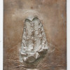 2013/2014, silver leaf on alabaster plaster, 40 x 30 x 5 cm