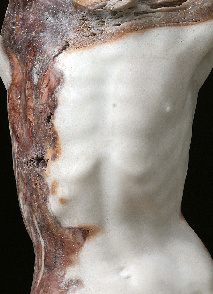 2014, Aurora onyx, copper, iron, 81 x 34 x 31,5 cm (detail)