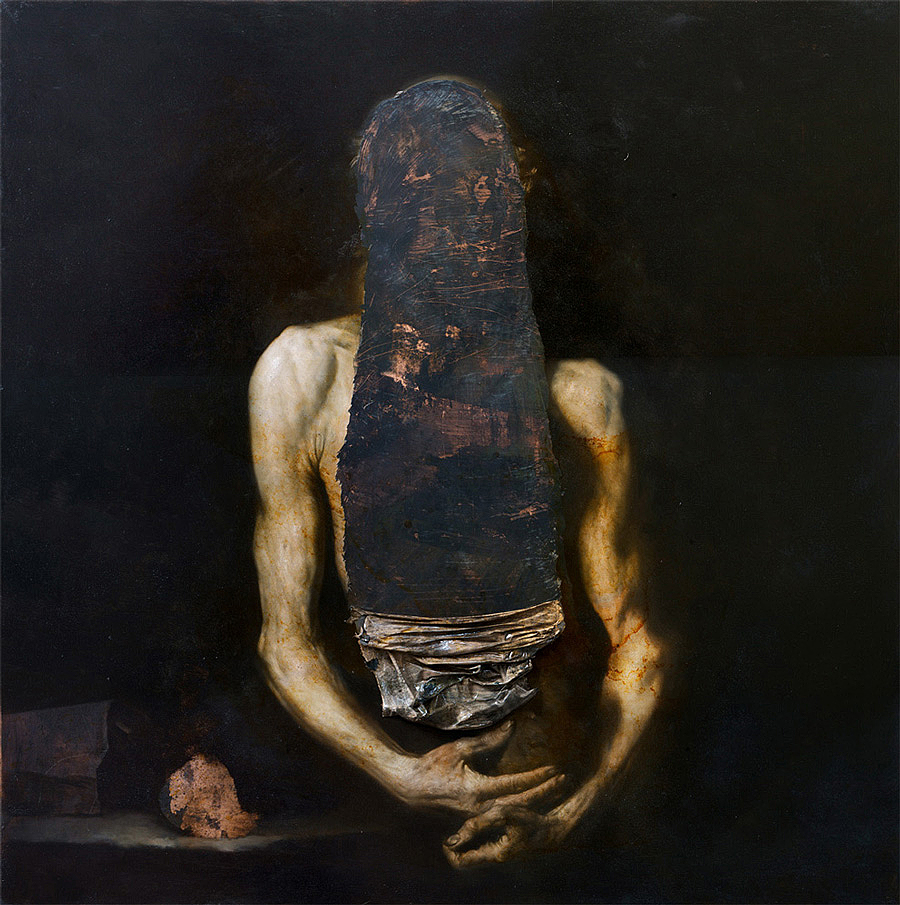 2014, oil on copper, 100 x 100 cm