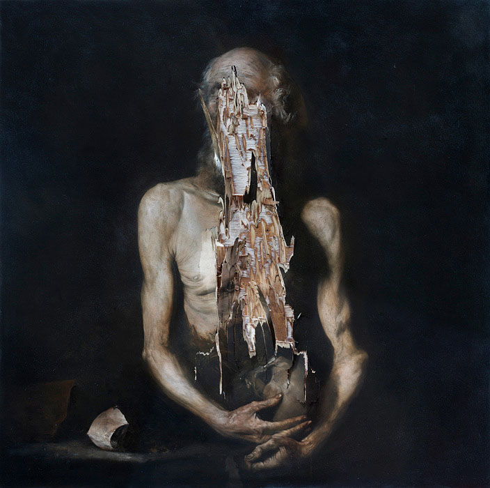 2015, oil on wood, 100 x 100 cm