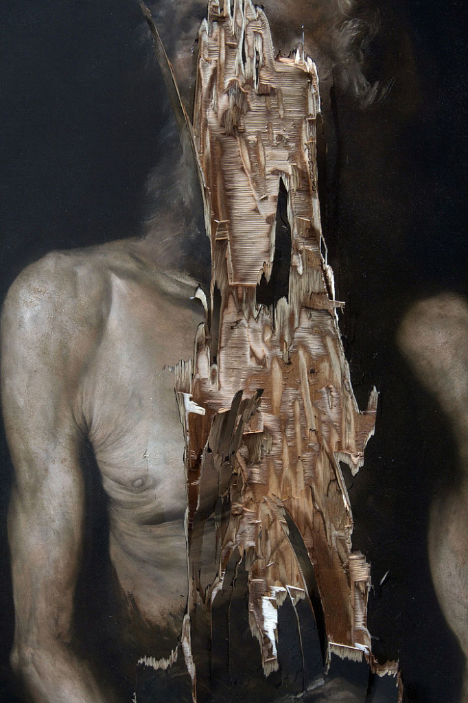 2015, oil on wood, 100 x 100 cm (detail)